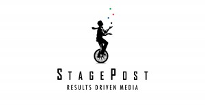 StagePost 2014 logo with Slogan Electric Results Driven Media
