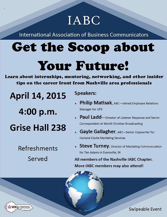 Get the Scoop about Your Future - 4-14-15