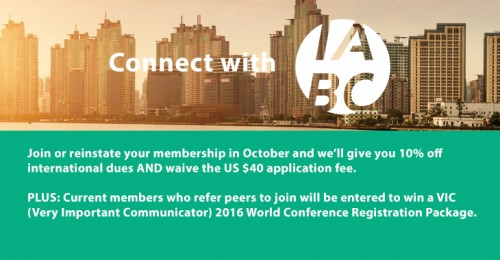 International Member Month – EXTENDED through November! – Join or Reinstate and SAVE!