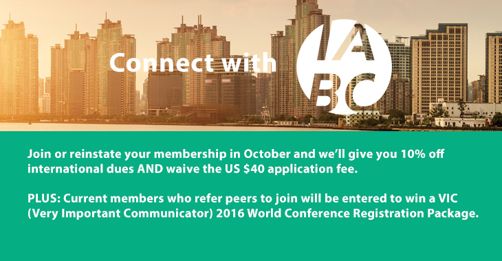 IABC October membership graphic