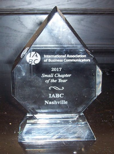 2017 IABC Small CHapter of the Year,  Worldwide